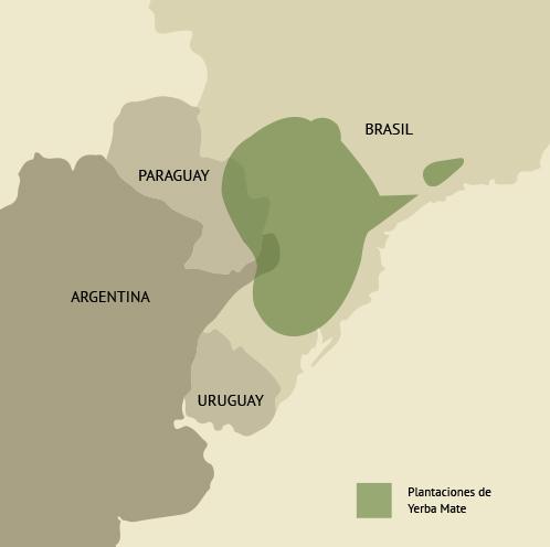 área de plantaciones de yerba mate