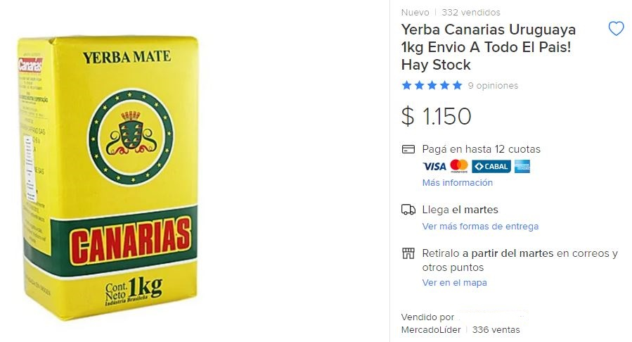 yerba canarias argentina
