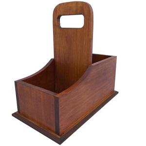 Matera de madera estilo soporte